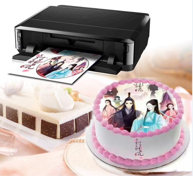Cake Shop Use Cake Printer Machine With Edible Ink And Corn Papers