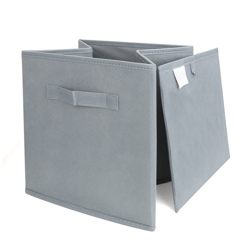 Grey Fabric Cube Storage Bins, Foldable, Premium Quality Collapsible  Baskets, Closet Organizer Drawers In Storage Boxes U0026 Bins From Home U0026  Garden On ...