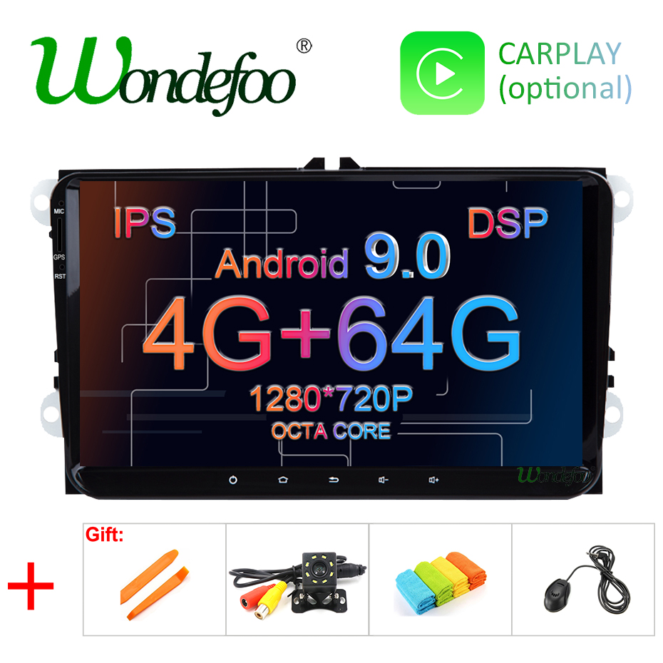 IPS DSP 4G 64G Android 9 0 2 DIN Car GPS PLAYER for Seat Altea Toledo