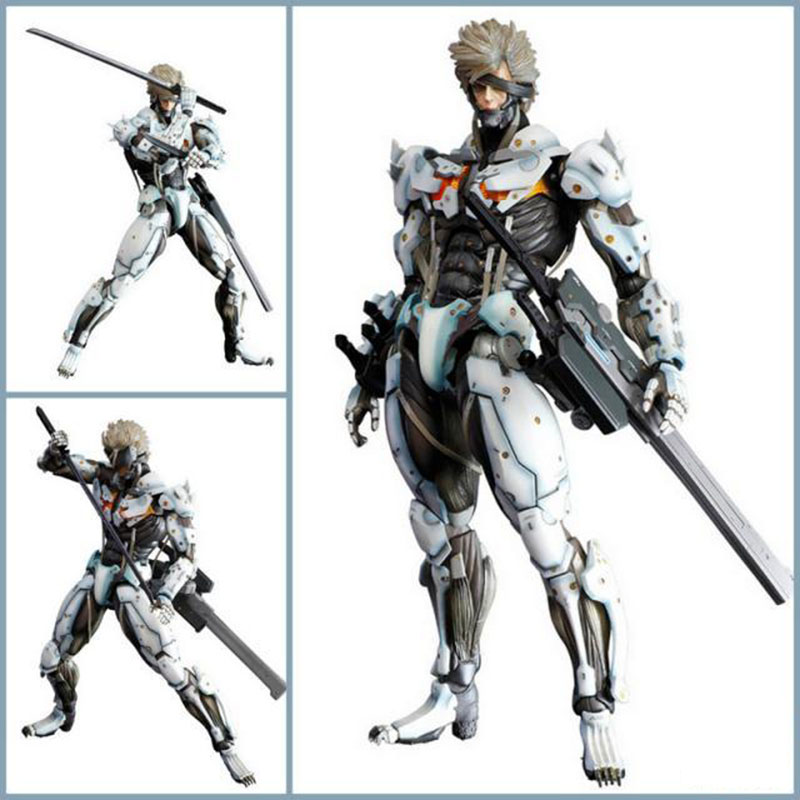 Play Arts PA Game Metal Gear Rising Revengeance METAL GEAR SOLID The Phantom Pain Raiden/Jack Action Figure Collection Toys 28cm