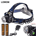LOMOM 2000LM CREE T6 LED Headlamp Motorcycle 4 Modes 18650 Rechargeable Headlight AAA Head Lamp Torch 100% quality assurance