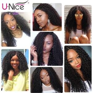 Image 5 - Волосы UNICE Малазийские Вьющиеся переплетенные человеческие волосы для наращивания 1/3/4 шт Remy Волосы пряди 100% натуральный цвет волосы для плетения 8 26 дюймов