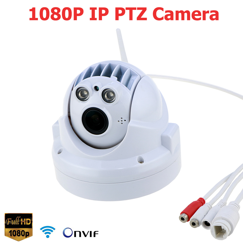 1080P HD WIFI IP Camera PTZ Wireless Onvif 2.0Megapixel Infrared Speed Dome Camera Network P2P 4X Zoom Pan Tilt Dome PTZ Camera