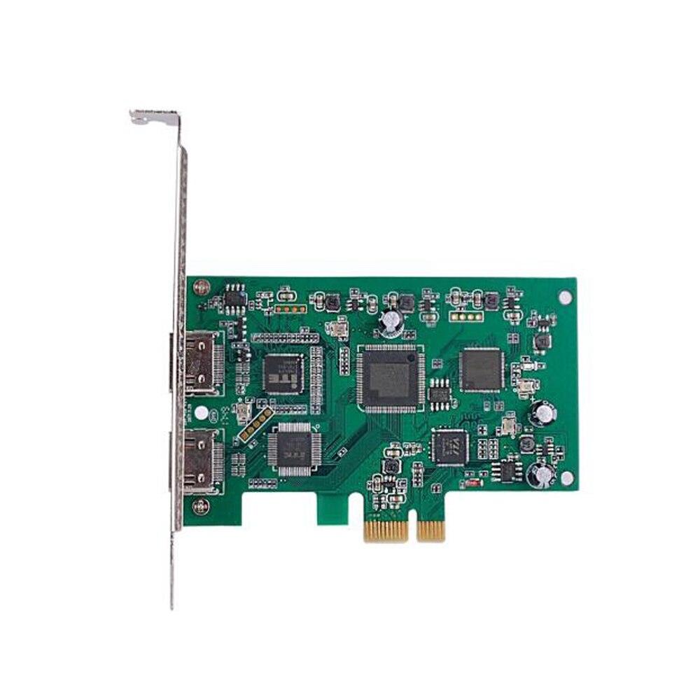Carte de Capture vidéo PCIE HD 4 K 30 PCI Express 60FPS double entrée/sortie de carte de Capture HDMI pour le jeu/vidéo en direct en Streaming