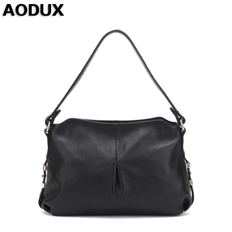 AODUX Girls Small Genuine Leather First Layer Cow Leather Women Crossbody Shoulder Bag Handbags Messenger Bags bag female new genuine leather handbags first layer of leather shoulder bag korean zipper small square bag mobile messenger bags