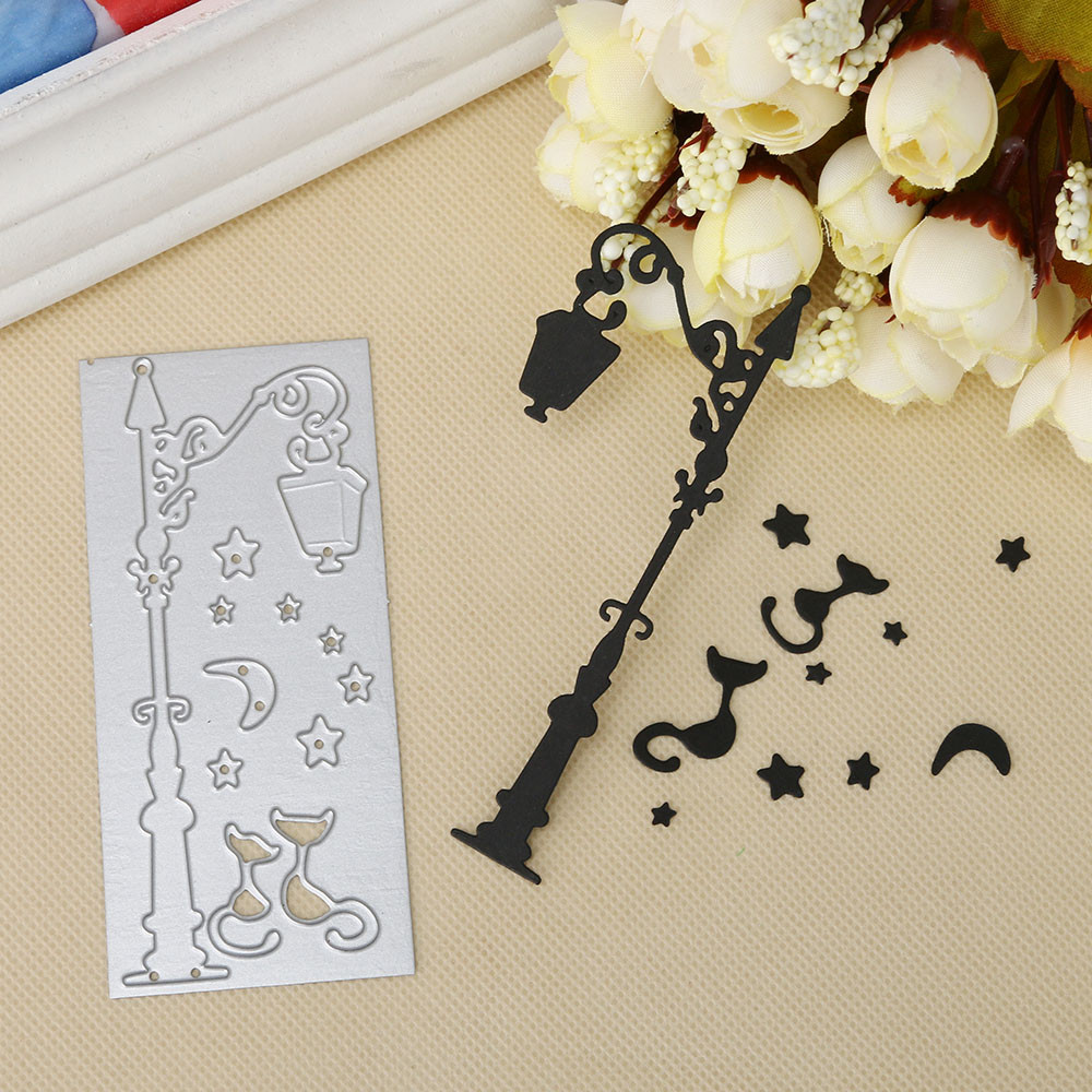 Street lights at night Metal Cutting Dies Stencils For Scrapbooking Photo Album Decorative Embossing DIY Paper Cards Craft Dies
