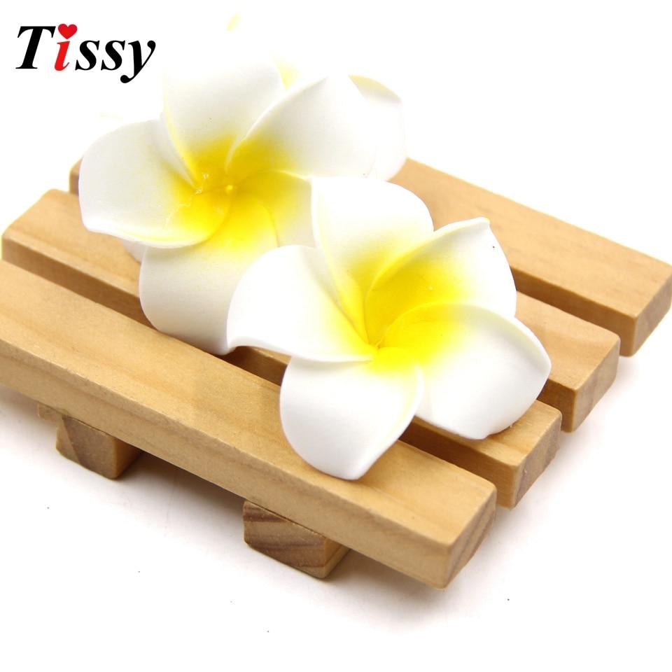 100PCS White Plumeria Hawaiian Artificial Flowers Foam Flowers Fake ...