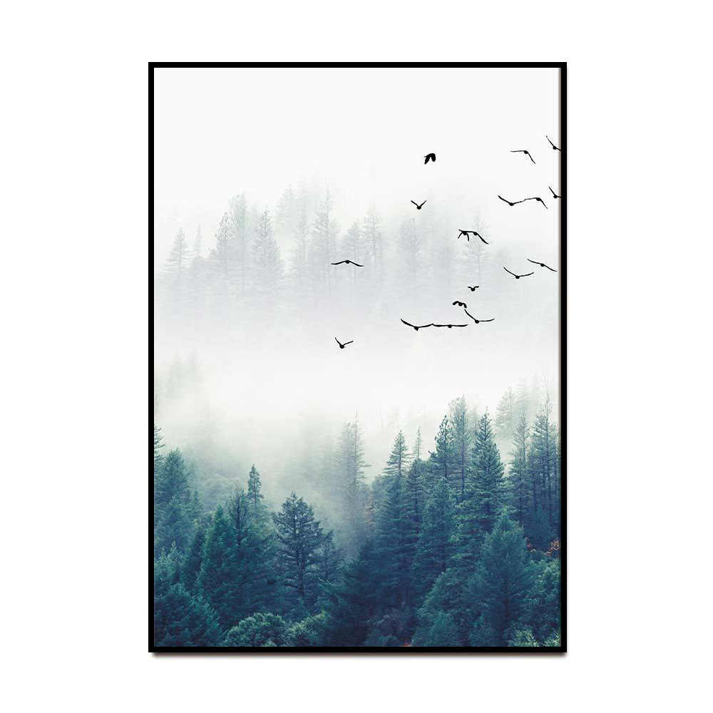 Forest Lanscape Wall Art Nordic Decoration Poster and Print Canvas Painting Decorative Picture for Living Room Home Decor