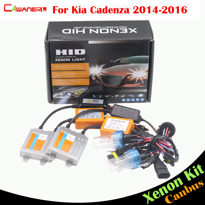 Cawanerl 55W H7 Auto HID Xenon Kit AC Canbus Bulb Ballast 3000K-8000K For Kia Cadenza 2014-2016 Car Light Headlight Low Beam