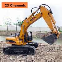 HUINA 580 Hobby RC Hydraulic Excavator Kids Car Toys for Boys Car Styling Big Off Road Construction Remote Control Auto Trucks