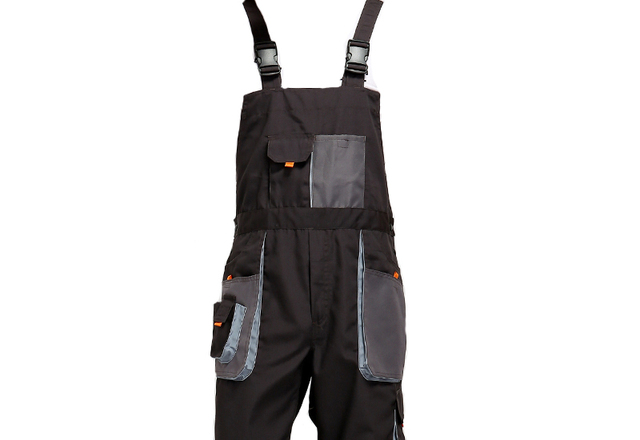 Bib overalls men work coveralls protective repairman strap jumpsuits pants working uniforms plus size sleeveless coverall 5