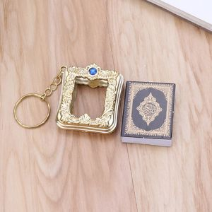 Image 5 - JACRICK 1 Pc מיני ארון קוראן ספר נייר אמיתי יכול לקרוא ערבית קוראן סגנון Keychain מוסלמי תכשיטי עבור deacoration חתונה מתנה
