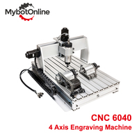 CNC 6040 800W/1.5KW/2.2KW 4 Axis Engraver Engraving Machine MACH3 CNC Router Machine Support USB Milling Cutting Machine