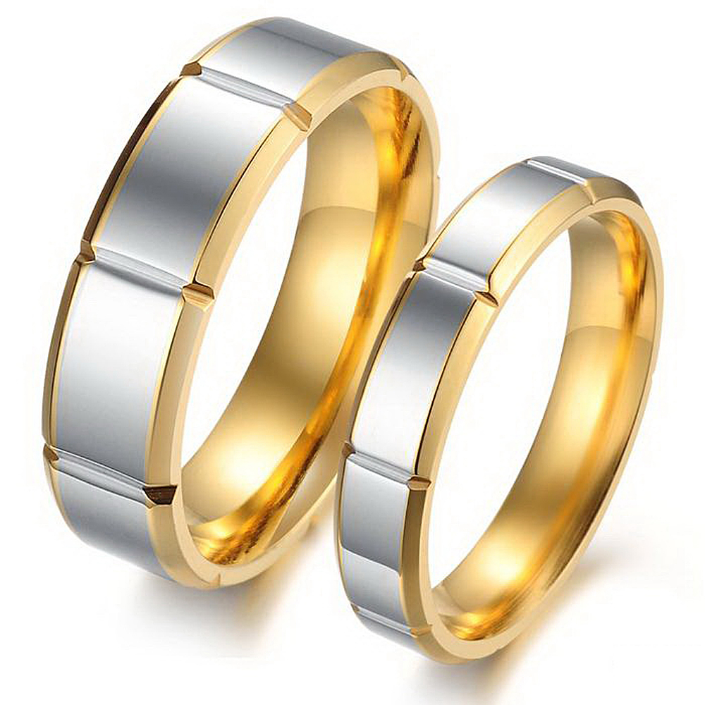 Stainless Titanium Steel Wedding Rings Set For Couples Nickle Free Romantic  Cheap Engagement Rings Fashion Jewelry