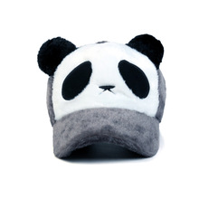 Winter hat warmth cartoon panda male and female universal size with the baseball cap winter hat