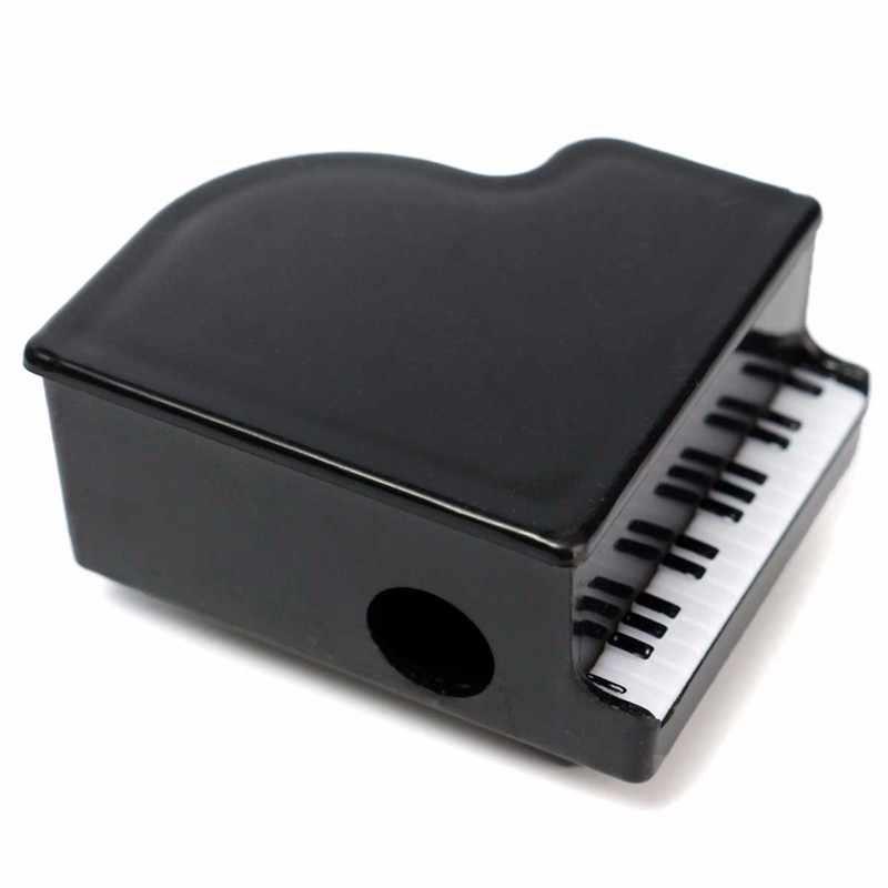KiCute 1pcs חדש לגמרי פלסטיק צורת פסנתר קטן עיפרון מחדדי כתיבה מוסיקה לילדים ילדי ציוד לבית ספר מתנה