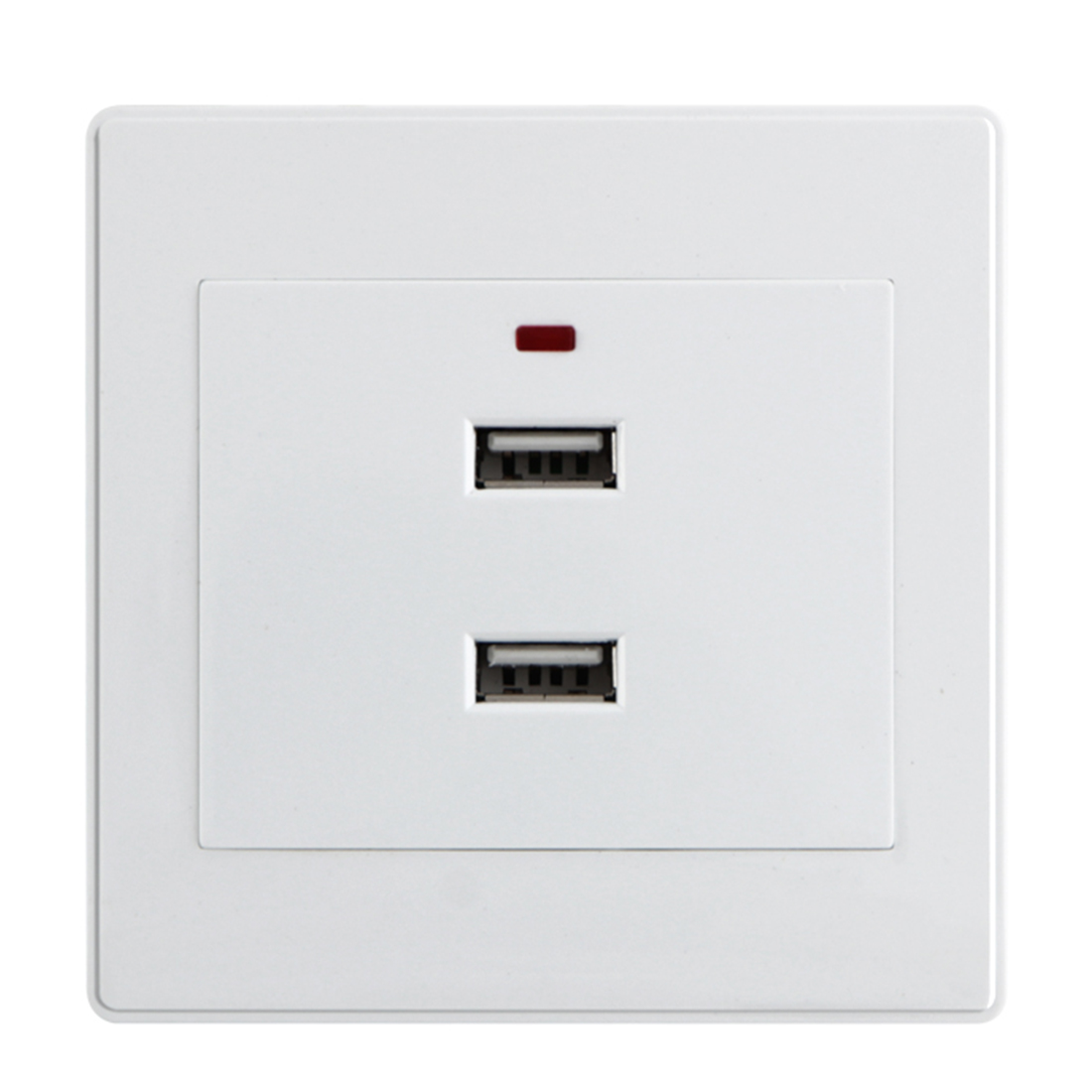USB 2.0 Ports Charger Adapter Wall Power Outlet Socket Plug For Wall Face Plate