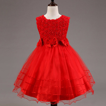 Nacolle Summer Style 3 10 Year Princess Dress For Girls Flower lace baby dresses kids Sleeveless