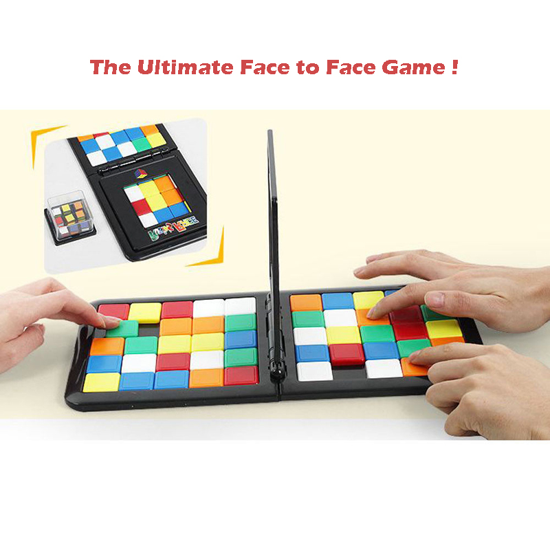 2018 Pudcoco New Rubiks Race Board Game Ultimate Strategy Puzzle Funny Family Party Games Toys