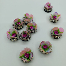 10pcs/lot Handmade rhinestone beaded Patches for clothing Sew on sequin applique flowers embroidery parches shoes hat bags