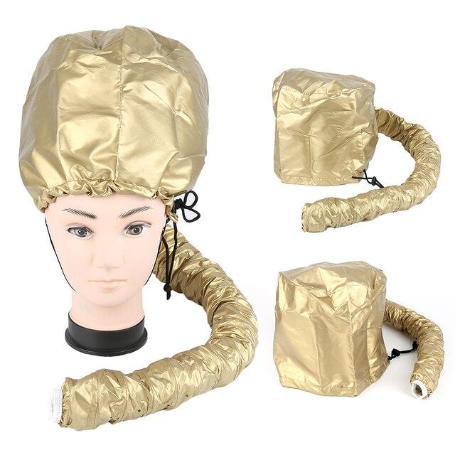 Y W F Hot Gold Hood Bonnet Diffuser Attachment Hair Dryer Cap Salon Hat Portable