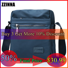 ZZINNA Water Repellent Casual Business Wild Messenger Bag for Men Summer Travel Blue Pack Flexible Compact Carry Sumka No.1 Use