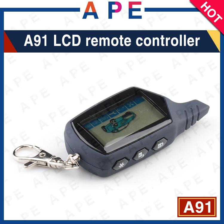 Prix pour Nouvelle Arrivée Livraison gratuite A91 2-way LCD à distance pour starline A91 à deux voies système d'alarme de voiture Seulement A91 à distance Porte-clés A91