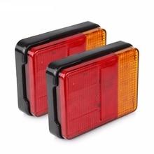 1 Pair 30 LED Side Marker Lights 12V 24V Car Truck Trailer Taillight Lamp Red Yellow
