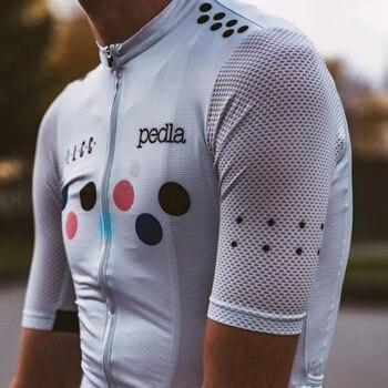 The pedla LunaAIR Cycling Jersey men 2019 New Air mesh short sleeve road bike racing shirt Breathable bicycle ridewear Quick Dry