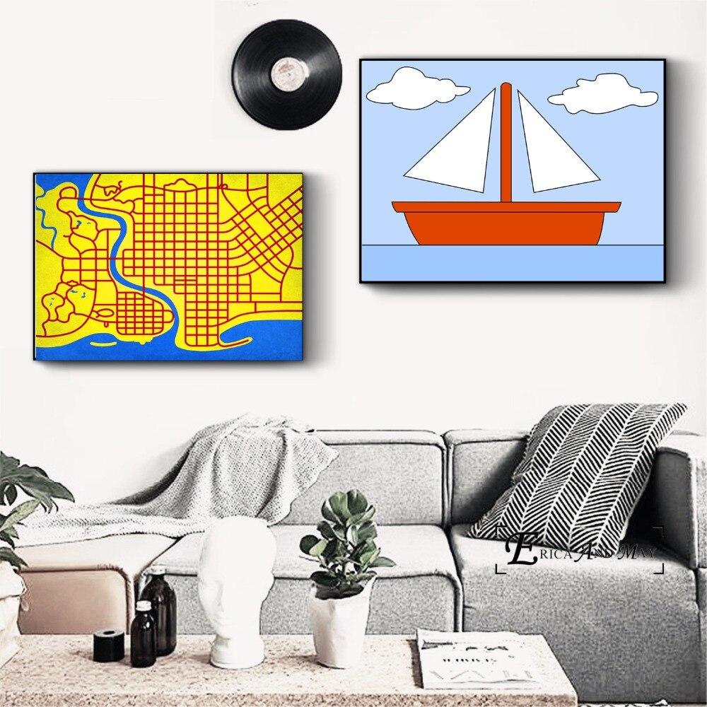 Симпсоны поп Книги по искусству холст картины Плакаты и принты для Гостиная не оформлена стены Книги по искусству изображение домашнего де...