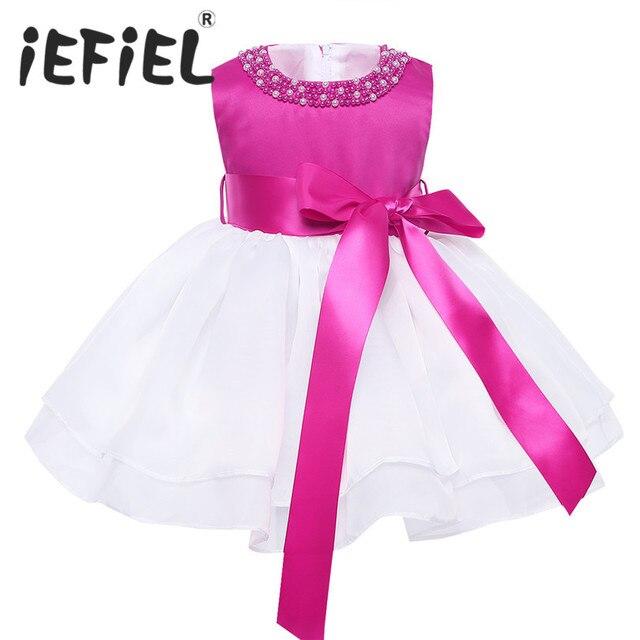 Newborn baby girls dress regalo di natale per il battesimo Compleanno 1  anni infantile del bambino 3b3c99765bf