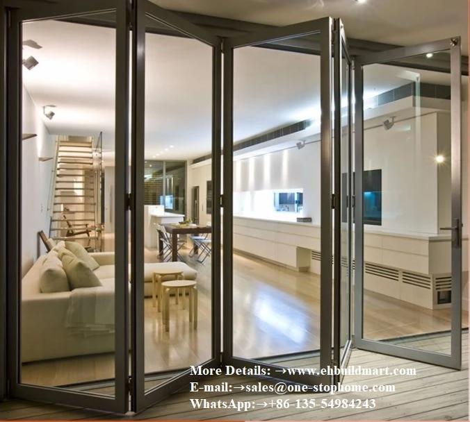 aluminum folding door secure safety robust insulated accordion glass doors lowes pella sliding soundproof outdoor patio door