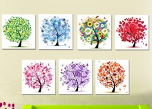 Flower arranging 5D diamond Painting flowers tree Cross Stitch diamond embroidery mosaic diamonds wall stickers