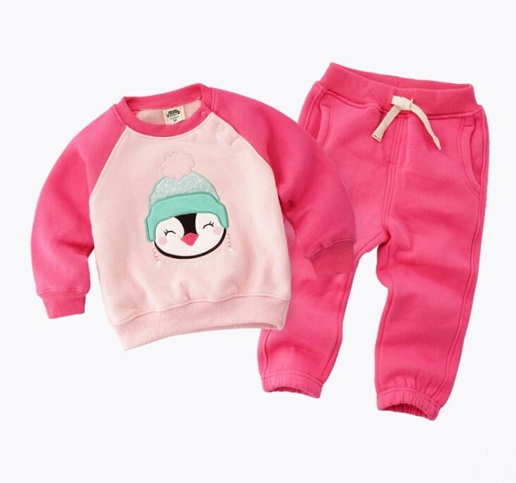 t camisa + calças de algodão roupas das crianças conjunto