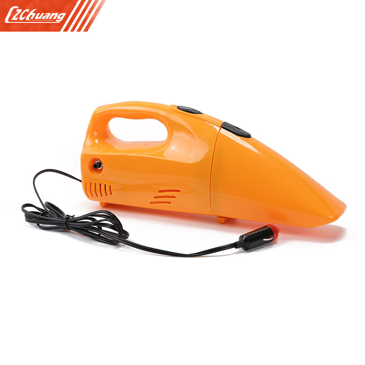 2 in 1 Tire Inflator Portable Mini Car Vacuum Cleaner 2 in 1 multifunction tire inflator air compressor w vacuum cleaner yellow dc 12v