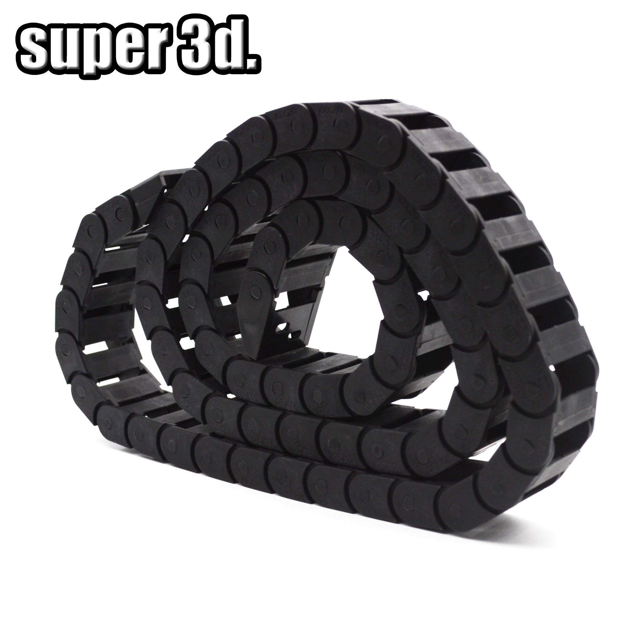 1pcs Plastic Towline Drag cable Chain 10x15mm Wire Wrapping band Wiring ducts Router for 3D printer