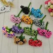 12 шт. Искусственные цветы ручной работы, недорогие свадебные украшения, сделай сам, венок, рукоделие, Подарочная коробка, скрапбукинг, искусственный цветок