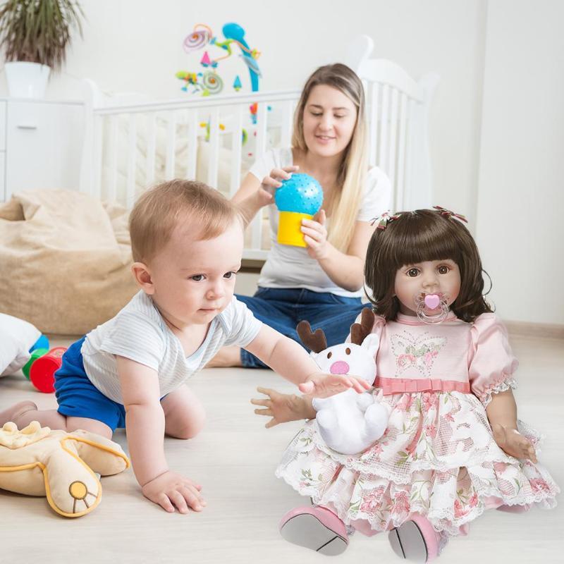 NPK 60 см моделирование прекрасная Девочка Кукла Новорожденный Возрожденный игрушка подарок Детская игрушка на день рождения - 4