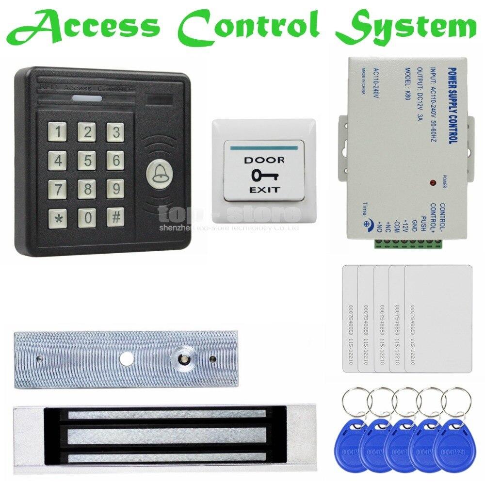 DIYSECUR Waterproof 125KHz Rfid Card Reader Password Keypad + 180kg Magnetic Lock Access Control Security Kit KS159 usb pos numeric keypad card reader white