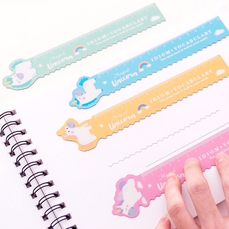 Flexible Unicorn Alpaca Pink Pig Ruler Measuring Straight Ruler Tool Promotional Gift Stationery