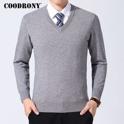 COODRONY Sweater Men Clothes 2019 Autumn Winter Cashmere Wool Pullover Sweaters Plus Size Business Casual V-Neck Pull Homme 8128 4