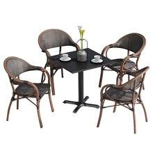 Уличный стол и стулья патио балкон кофейный столик кресло три