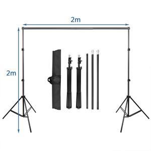 Image 2 - ZUOCHEN fotoğraf stüdyosu arka plan desteği stant kiti siyah beyaz yeşil ekran zemin seti