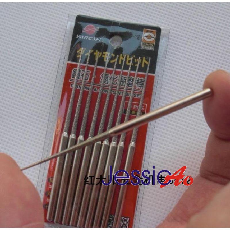 20pcs 70mm Long Grinding Needle Sharp Pin 3*2MM Diamond & CBN Internal Bit Set Mounted Points Grinding Head Polishing Engraving  цены