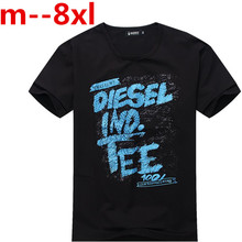10XL 9XL 8XL 6XL 5X Funny Print T Shirts Men's New Arrival Summer Style Short Sleeve t-shirt 2017 O Neck Streetwear Hip Hop Tops