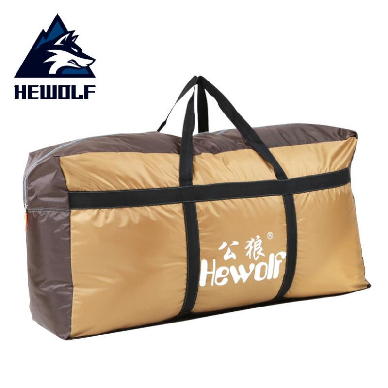 Hewolf 80*30*40CM Large Capacity Foldable Luggage Bag Ultralight Outdoor Travel Bag 210D Waterproof Self-driving Storage Bags