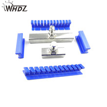 WHDZ 2019 nouveau PDR outil 6 pièces bleu voiture sans peinture Dent réparation extracteur onglets Dents enlèvement kit de support grande surface réparation dent outils(China)