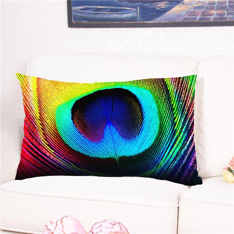 Красивый павлин Перо узор Чехлы для подушек с Пледы Подушки Детские случае cojines almofada многоцветный Наволочки для кровати 50*75 см