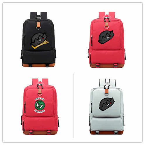 Riverdale backpack schoolbag for Teenagers Boys Girls men Shoulder Travel Mochila Bags