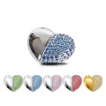 Gadget Gift Waterproof Jewelry USB Flash Drives 2TB Pen Drive 1TB Mini USB 2.0 Memory Stick Disk 8GB 16GB 32GB Key Pendrive 64GB